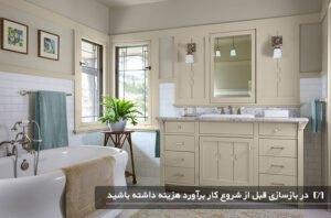 ترکیب رنگ های روشن برای محیط حمام