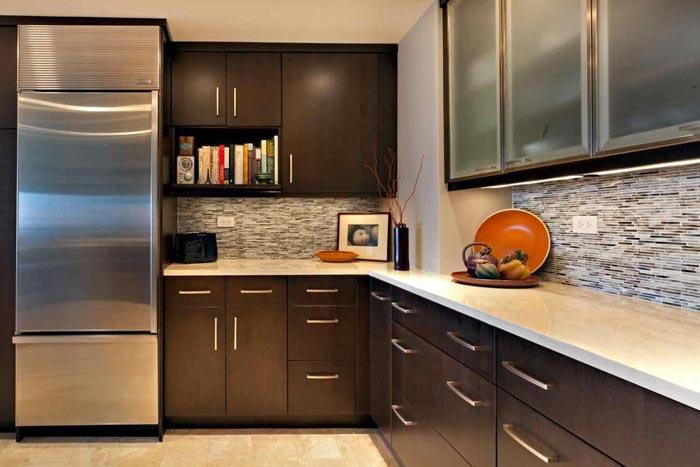 کابینت تیره + 6 مورد از مهمترین دلایل انتخاب آن برای آشپزخانه