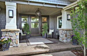 تصویر نورپردازی نمای خارجی یک خانه ویلایی