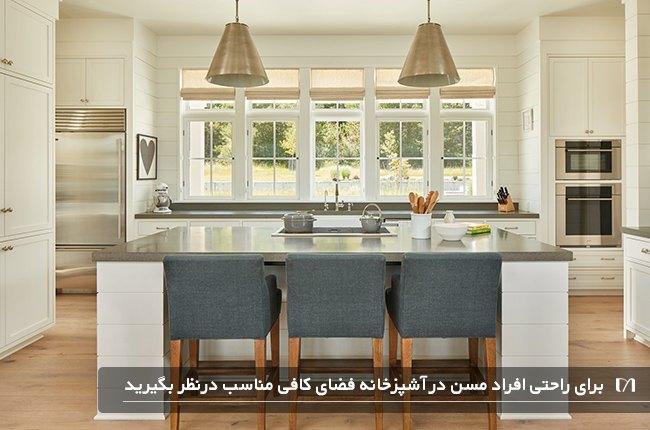 در طراحی آشپزخانه خود فضای باز کافی را در نظر بگیرید