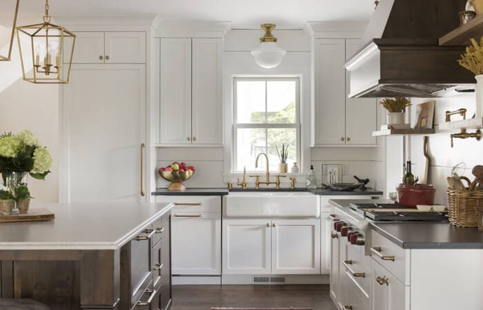 آشپزخانه روستایی سفید رنگ