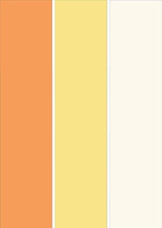 پالت رنگی با رنگ های نارنجی و زرد و لیمویی