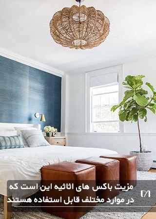 باکس اثاثیه یکی از وسایل ضروری برای اتاق خواب است که وجود آن بسیار کاربردی است
