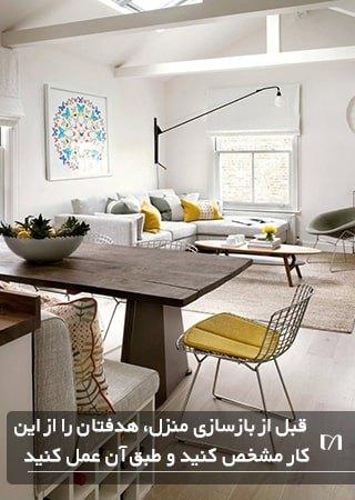 در بازسازی خانه لازم است بدانید چه می خواهید و طبق آن عمل کنید