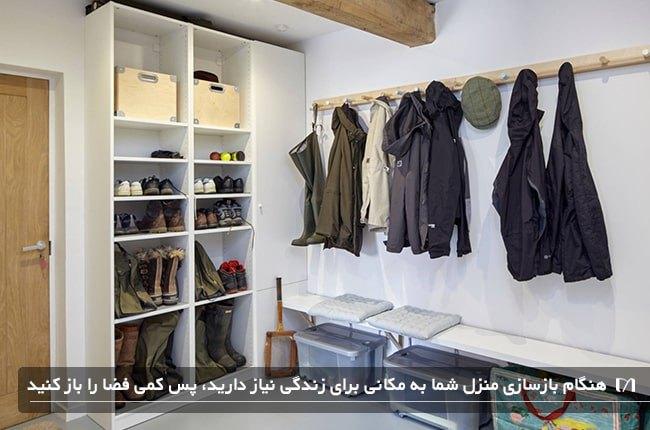 جمع و جور کردن یک اتاق برای زندگی در هنگام بازسازی خانه