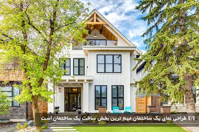 خانه ای سه طبقه و ویلایی با طراحی خاص و روستایی با منظره عالی