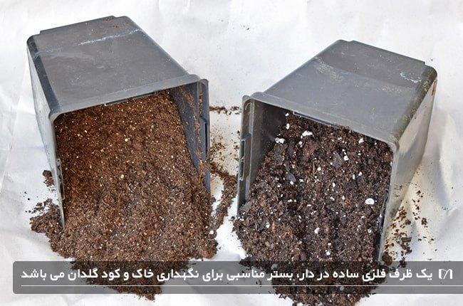 خاک و کود مناسب باغبانی یکی از وسایل مورد نیاز در گلخانه می باشد