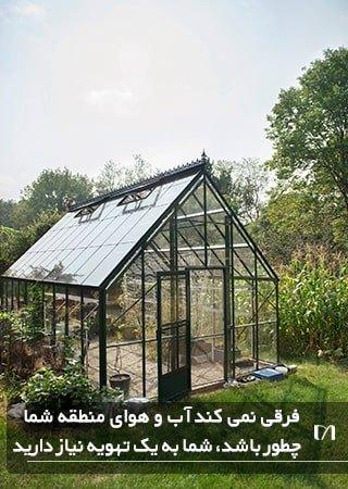 سیستم تهویه هوا یکی از وسایل مورد نیاز در گلخانه می باشد