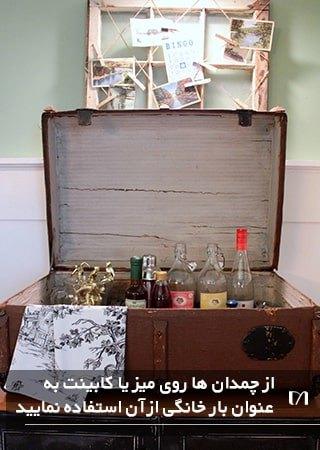 تبدیل چمدان به عنوان بار خانگی یکی از ترفندهای استفاده از وسایل قدیمی است