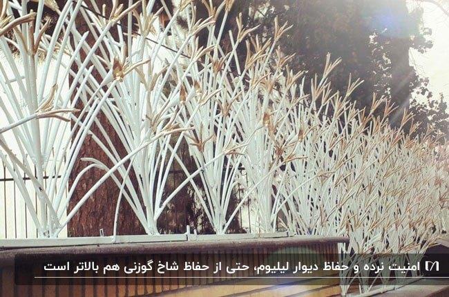تصویری از حفاظ و نرده های لیلیوم روی دیوار