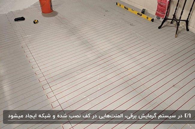 کف سازی خانه ای با سیستم گرمایش از کف برقی